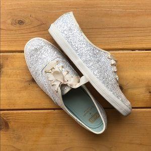 Kate Spade Keds Silver Glitter